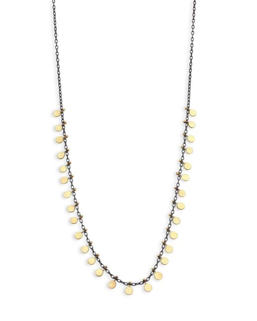 Sia Taylor - Metallic Dots 18k Yellow Gold & Sterling Silver Necklace - Lyst