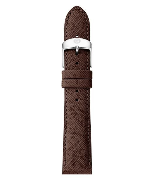 Michele Watches   Brown Saffiano Leather Watch Strap/16mm   Lyst