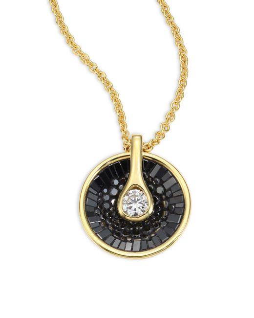 Plevé - Metallic Opus Black Diamond & 18k Yellow Gold Pendant Necklace - Lyst