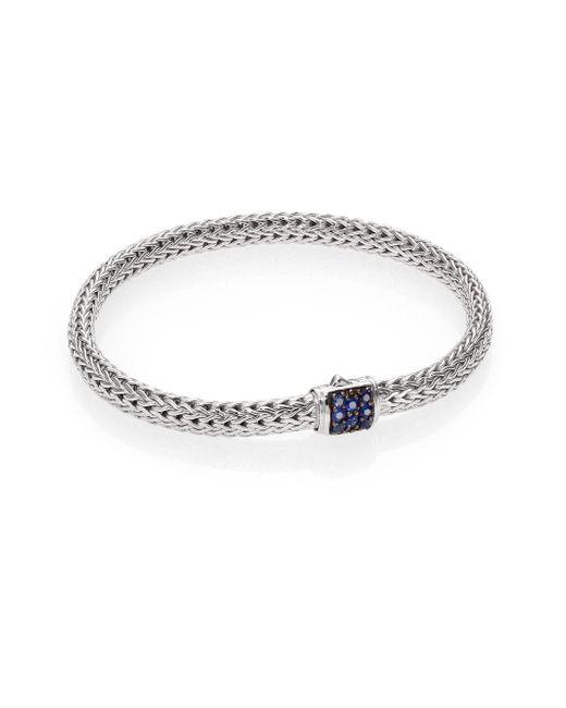 John Hardy - Metallic Classic Chain Sapphire & Sterling Silver Extra-small Bracelet - Lyst