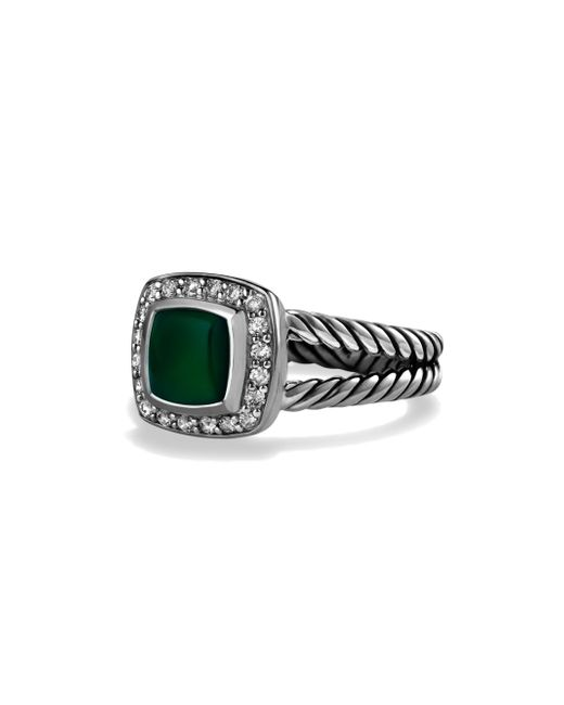 David Yurman | Petite Albion Ring With Green Onyx And Diamonds | Lyst