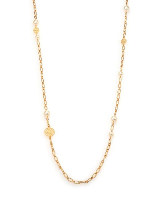 Tory Burch | Metallic Evie Chain Rosary Necklace/goldtone | Lyst