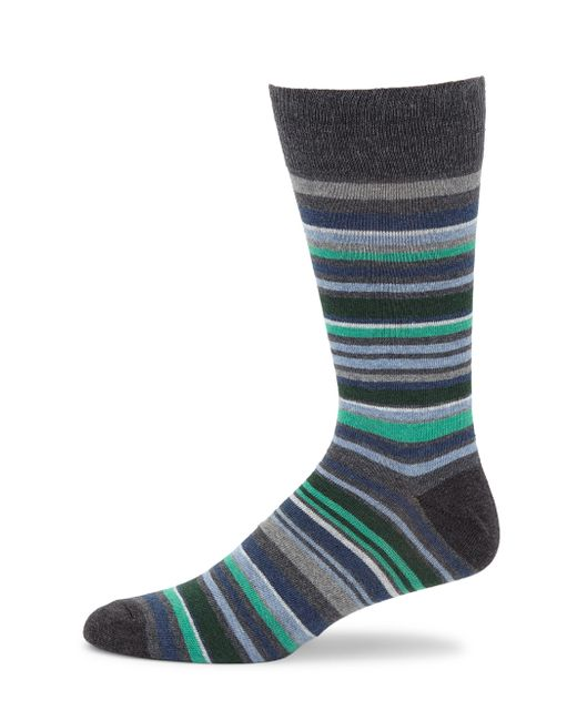 Saks Fifth Avenue - Gray Collection Multi Striped Crew Socks for Men - Lyst