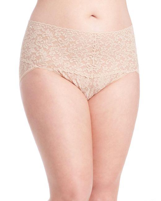Hanky Panky - Natural Plus Size Retro Lace V-kini Panty - Lyst
