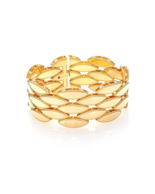 Roberto Coin - Metallic Retro 18k Yellow Gold Wide Bracelet - Lyst