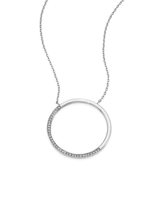 Michael Kors | Metallic Brilliance Circular Pave Pendant Necklace | Lyst