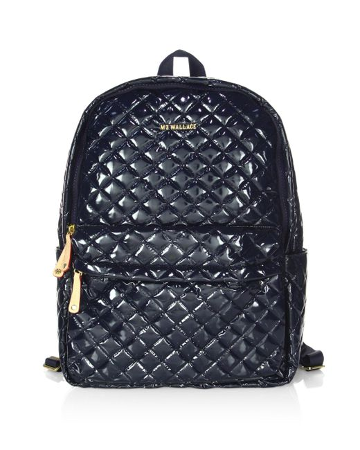 MZ Wallace | Blue Metro Quilted Backpack | Lyst