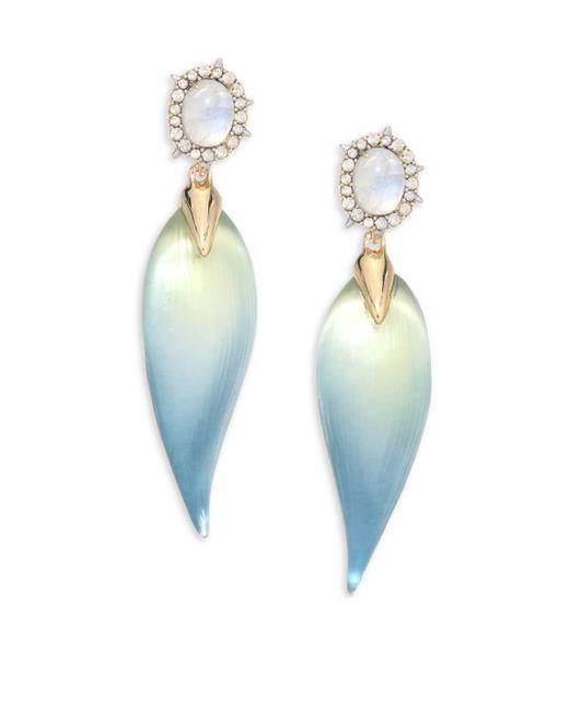 Alexis Bittar | Multicolor Lucite, Moonstone & Crystal Petal Drop Earrings | Lyst