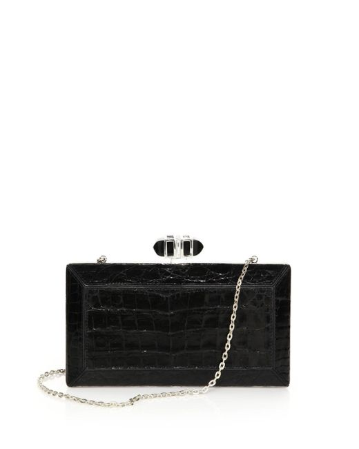 Judith Leiber Couture | Black Cayman Clutch | Lyst