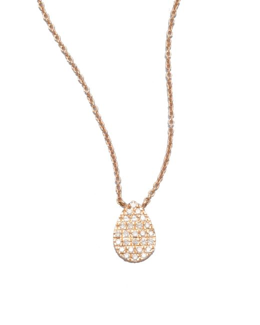 Diane Kordas | Pink Diamond & 18k Rose Gold Teardrop Necklace | Lyst