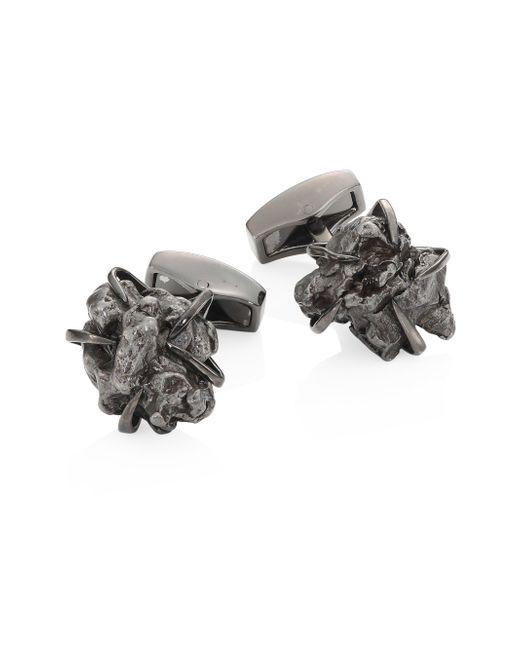 Tateossian - Black Campo Del Cielo Rhodium-plated Cuff Links for Men - Lyst