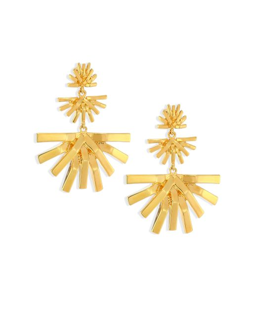 Lele Sadoughi | Metallic Palm Grass Chandelier Earrings | Lyst