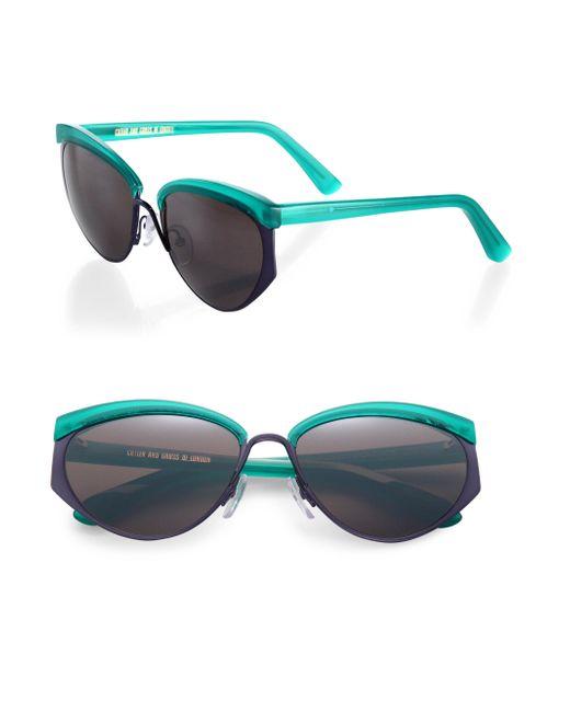 Cutler & Gross - Green 1201 Kamikaze 59mm Acetate & Metal Sunglasses - Lyst