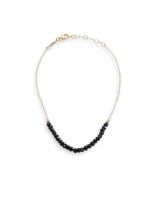 Jacquie Aiche - Black Spinel & 14k Yellow Gold Anklet - Lyst