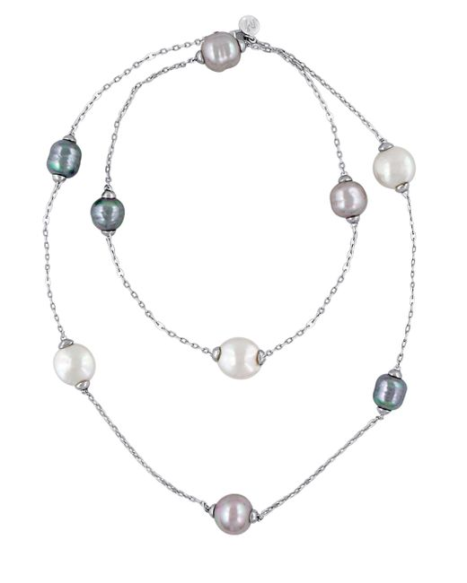 Majorica - Metallic 12-15mm Multi-color Baroque Pearl And Sterling Silver Necklace - Lyst