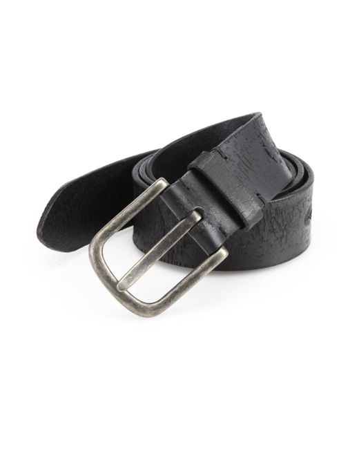 Saks Fifth Avenue | Black Distressed Leather Belt for Men | Lyst