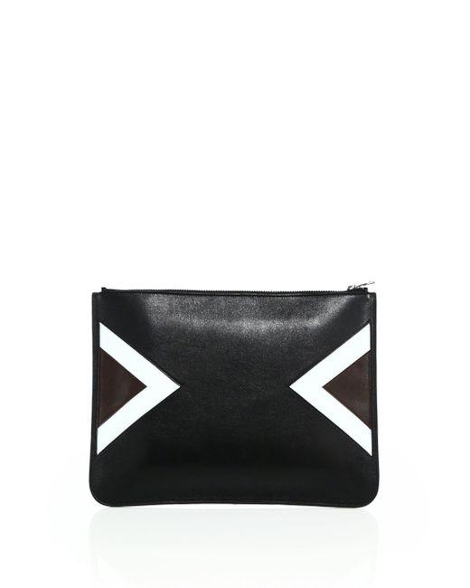 Neil Barrett   Black Modernist Large Leather Pouch   Lyst