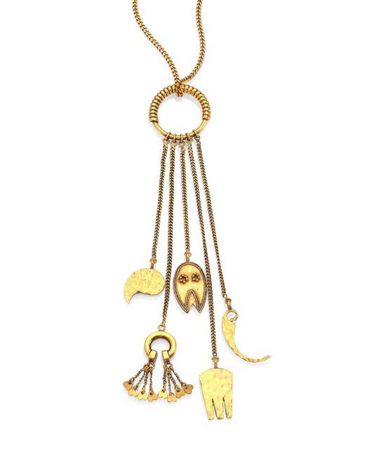 Chloé - Metallic Lyzabeth Charm Necklace - Lyst