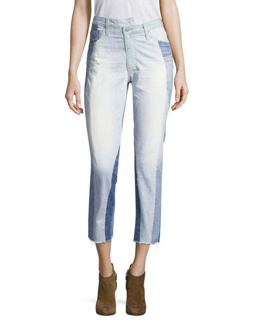 AG Jeans - Blue Isabelle Hi-rise Straight Crop Jeans - Lyst