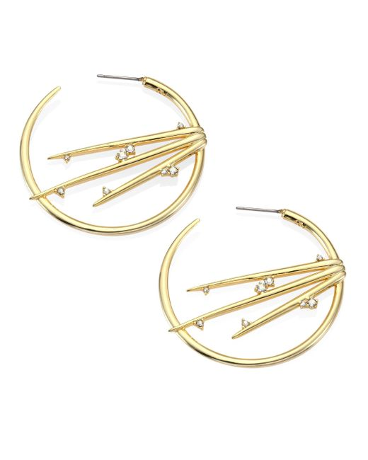 Alexis Bittar | Metallic Elements Satelite Crystal Spiked Hoop Earrings/1.75 | Lyst