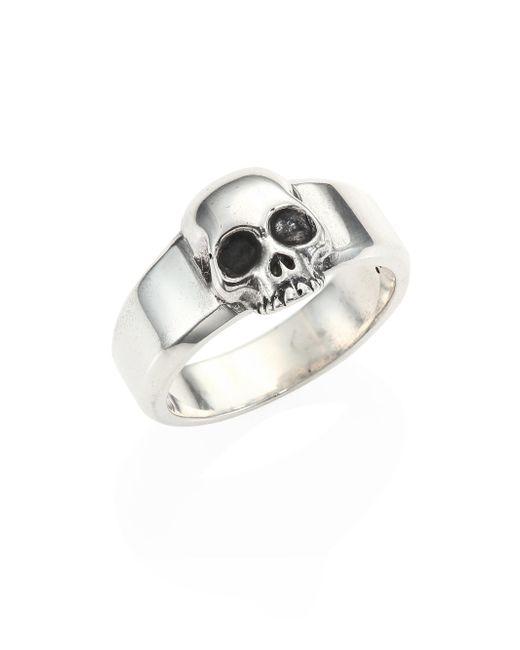 King Baby Studio | Metallic Sterling Silver Skull Ring | Lyst