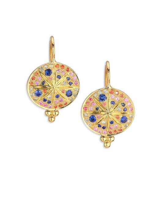 Temple St. Clair - Metallic Celestial Multicolor Sapphire & 18k Yellow Gold Sorcerer Drop Earrings - Lyst