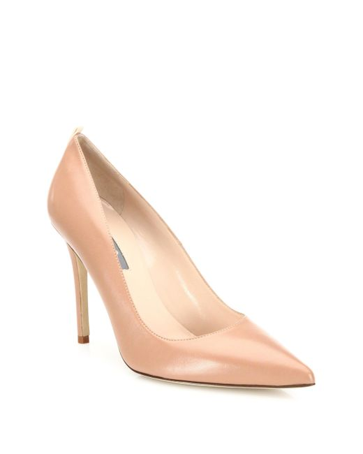 SJP by Sarah Jessica Parker Natural Fawn Leather Point Toe Pumps
