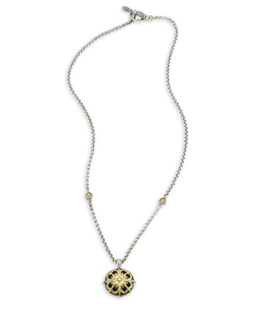 Konstantino | Metallic Gaia Etched Floral Pendant Necklace | Lyst