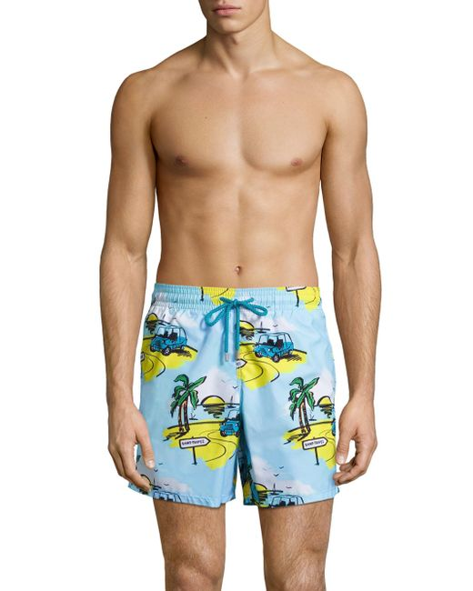 Vilebrequin | Blue Moorea Printed Shorts for Men | Lyst