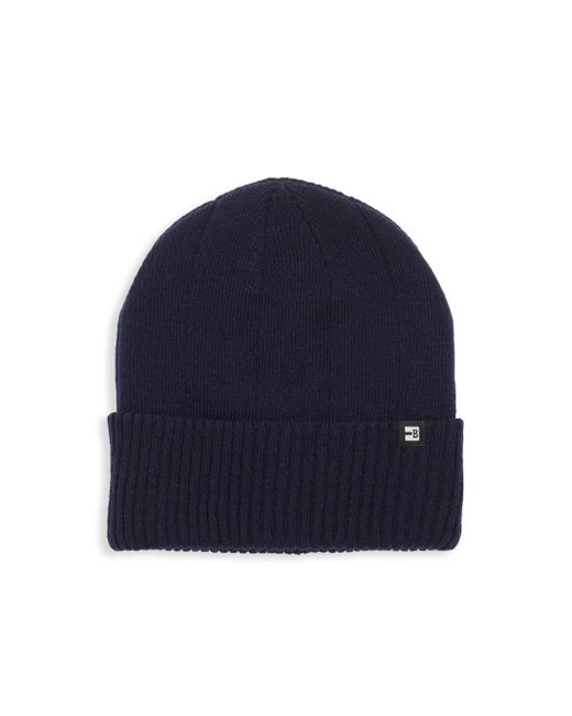 Block Headwear - Blue Rib Cuff Cotton Beanie for Men - Lyst