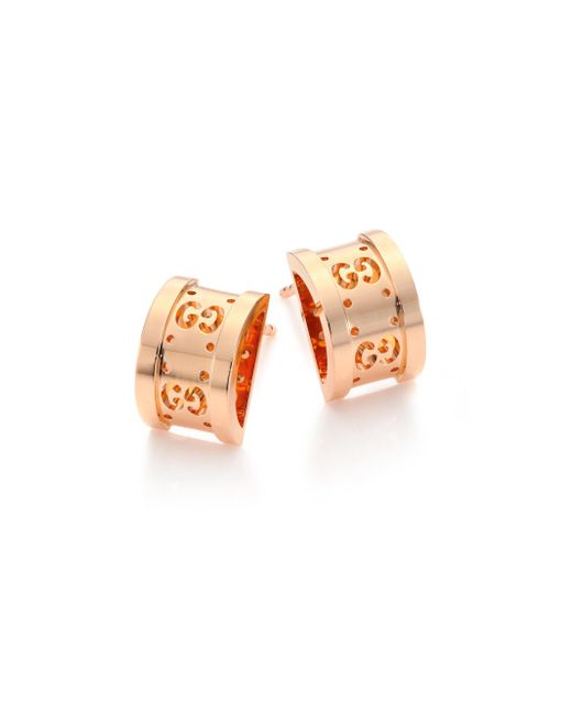 Gucci | Pink Icon Twirl 18k Rose Gold Stud Earrings | Lyst