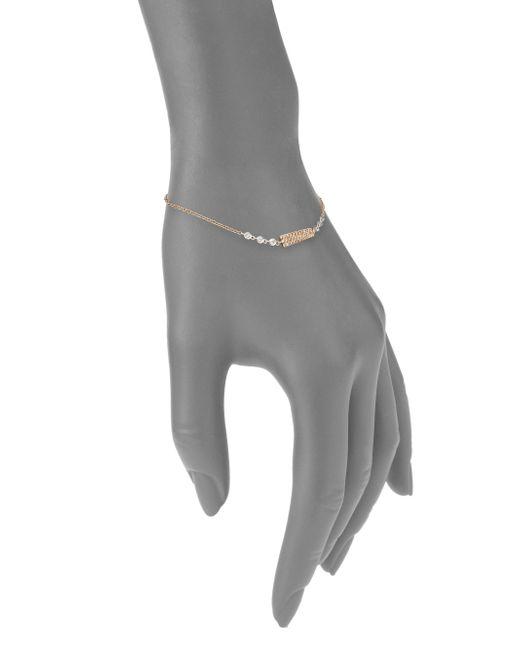 Meira t Diamond 14k Rose Gold & 14k White Gold Bar Bracelet in