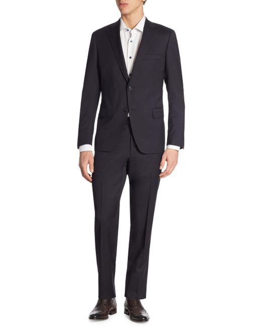 Saks Fifth Avenue - Blue Samuelsohn Classic-fit Wool Suit for Men - Lyst