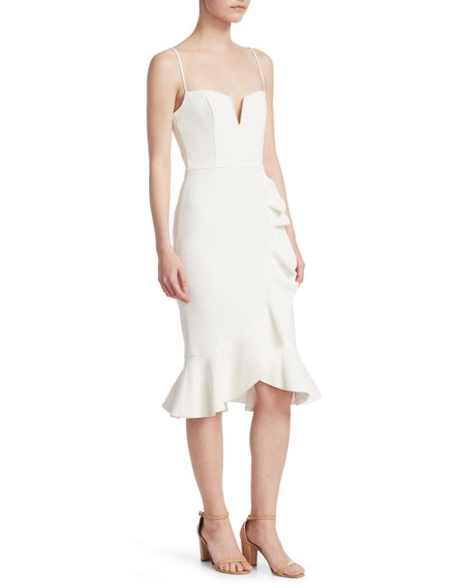 Nicholas - White Bandage Ruffle Dress - Lyst