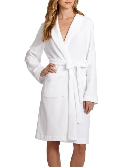 Hanro | White Terry Robe | Lyst