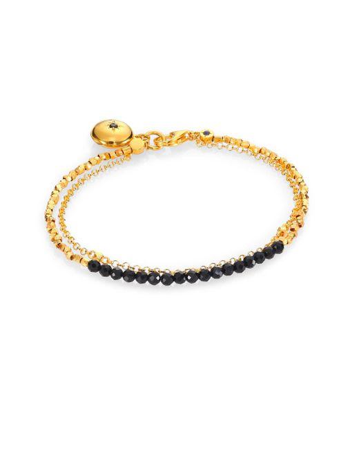 Astley Clarke | Black Spinel Locket Biography Bracelet | Lyst