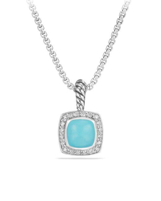 David Yurman - Blue Petite Albion Diamond Pendant Necklace - Lyst