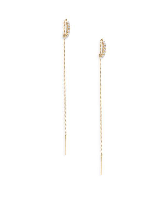 Vita Fede | Metallic Luna Faux-pearl Threader Earrings | Lyst