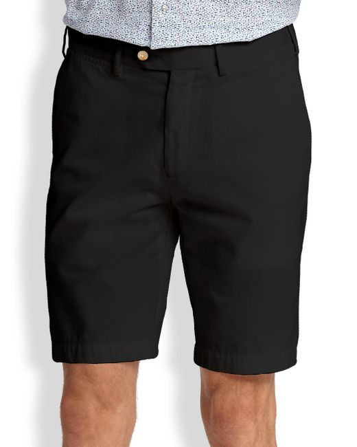 Saks Fifth Avenue - Black Cotton Oxford Shorts for Men - Lyst