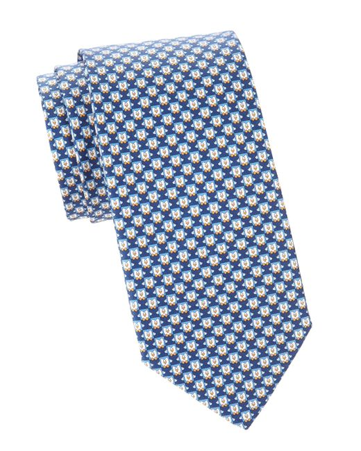 0e9d115b9897 Ferragamo - Blue Men's Penguins Silk Tie - Navy for Men - Lyst ...