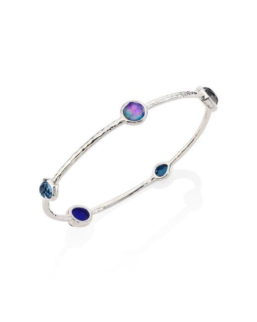 Ippolita - Blue Rock Candy? Eclipse Mixed Stone & Sterling Silver Bangle Bracelet - Lyst