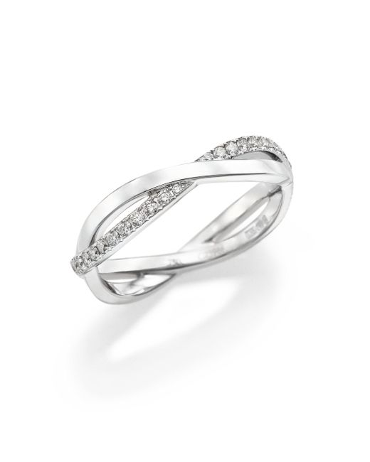 De Beers - Infinity Diamond & 18k White Gold Half Band Ring - Lyst