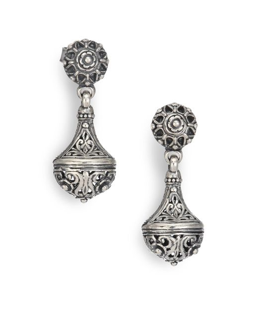 Konstantino - Metallic Classics Sterling Silver Drop Earrings - Lyst
