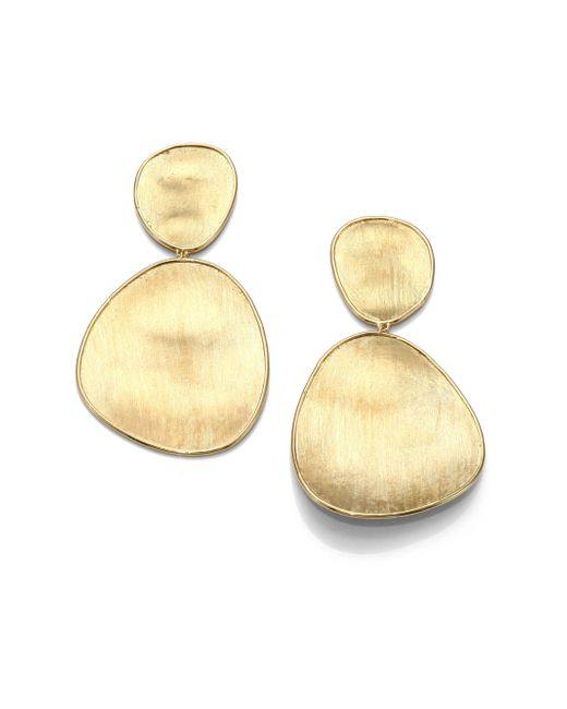 Marco Bicego | Metallic Lunaria 18k Yellow Gold Double-drop Earrings | Lyst