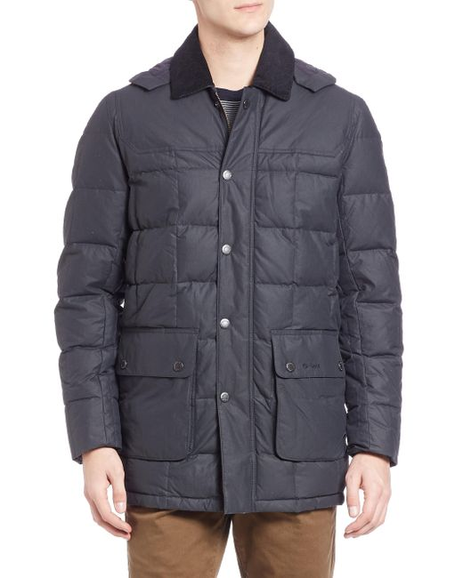 Barbour | Blue Dunnage Quilted Jacket for Men | Lyst