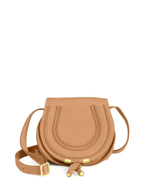 Chloé - Brown Marcie Small Crossbody Bag - Lyst