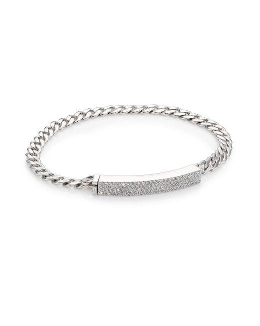 Adriana Orsini - Metallic Pave Id Bracelet - Lyst