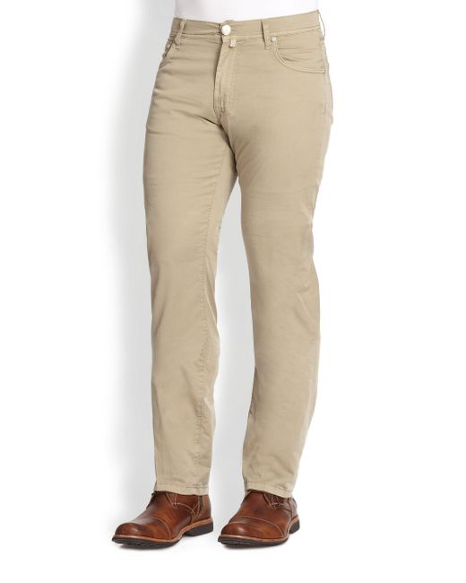 Corneliani | Natural Five-pocket Cotton Pants for Men | Lyst