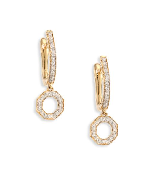 Phillips House - Metallic Open Hero Diamond & 14k Yellow Gold Drop Earrings - Lyst