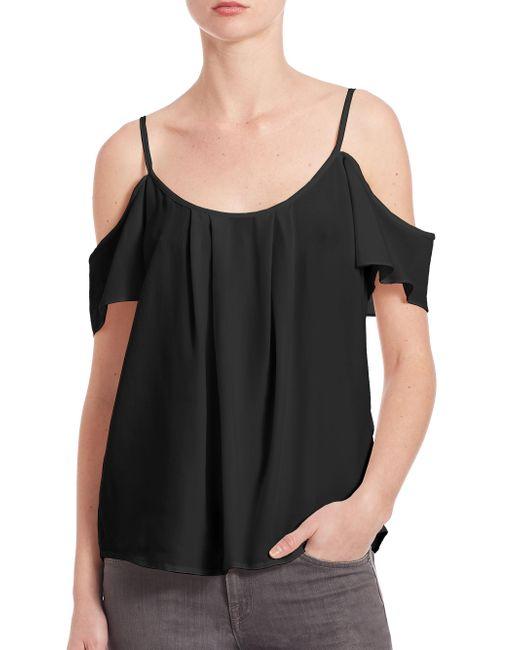 Joie - Black Adorlee Silk Off-the-shoulder Top - Lyst